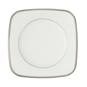 Kilbarry Platinum Square Accent Salad Plate - 9""