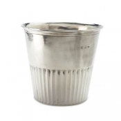 Match Pewter Impero Waste Basket