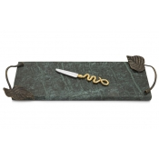 Michael Aram Rainforest Small Cheese Board w/ Knife