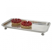 Match Pewter Footed Rectangle Service Tray