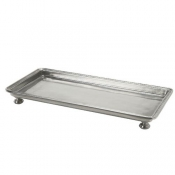 Match Pewter Footed Rectangle Service/Vanity Tray - Small