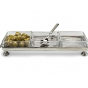 Match Pewter Footed Crudite Tray