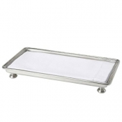 Match Pewter Footed Guest Towel Tray