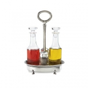 Match Pewter Condiment Cruet Caddy