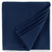 Sferra Grant Navy Full/Queen Blanket - 100X100