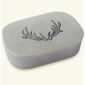 Match Pewter Simple Covered Antler Box