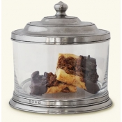 Match Pewter Glass Cookie Jar