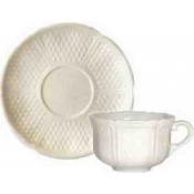 Pont Aux Choux Cream Set of 2 Breakfast Cups and Saucer