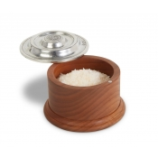 Match Pewter & Wood Salt Cellar