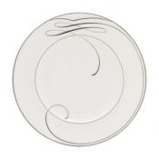 Ballet Ribbon White Accent Plate - 9""