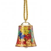 Versace Christmas Holiday Alphabet Glitter Bell