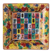 Versace Christmas Holiday Alphabet Tray - 11""