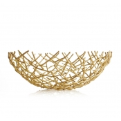 Michael Aram Thatch Bowl Gold - Medium