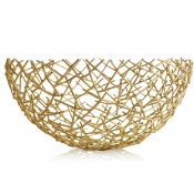 Michael Aram Thatch Bowl Gold - Large