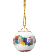 Versace Christmas Holiday Alphabet Globe Ornament