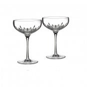 Lismore Essence Saucer Champagne - Boxed Pair