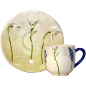 Gien Alice Espreso Cups & Saucers - Set 2