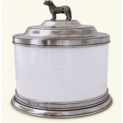 Match Convivio Cookie Jar w/Dog Finial
