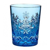 Waterford Snowflake Wishes Goodwill Prestige Edition Light Blue Double Old Fashion