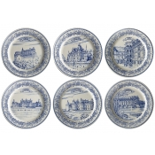 Gien Chateaux de la Loire Bottle Coasters / Set 6