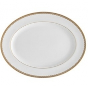 Lismore Lace Gold Oval Platter