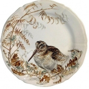 Sologne Dessert Plate Woodcock