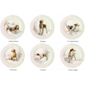 Dessert Plates Assorted Dogs - Set 6