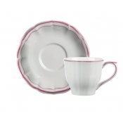 Filet Rose Tea Cups & Saucers / Set 2