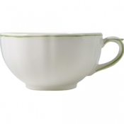 Filets Vert Set of 2 Breakfast Cups and Saucer