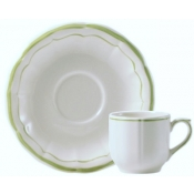 Filets Vert Espresso Cup & Saucer / Boxed Set 2