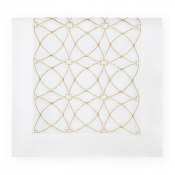 Sferra Dutchess Table Runner 15X72 - White / Gold