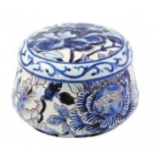 Gien Pivoines Bleues Covered Candy Box