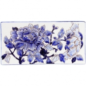 Pivoines Bleues Letter Tray