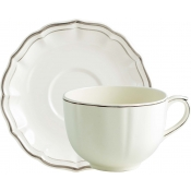 Filets Taupe Jumbo Cup & Saucer