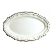 Filets Taupe Oval Platter