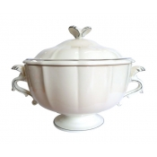 Filets Taupe Soup Tureen