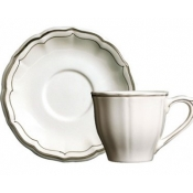 Filets Taupe Tea Saucer