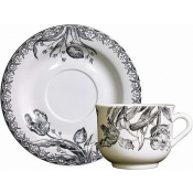 Tulipes Noires Breakfast Cups & Saucers Set / 2
