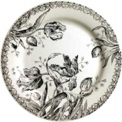 Tulipes Noires Dinner Plate *