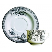 Tulipes Noires Tea Saucer *