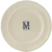 Pont Aux Choux - White - Monogram Dinner Plate / Set 6