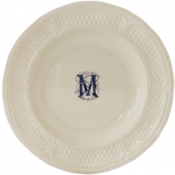 Pont Aux Choux - White - Monogram Rim Soup / Set 6