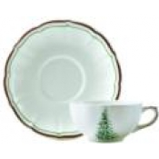 Filets Noel Breakfast Cup & Saucer / Set 2