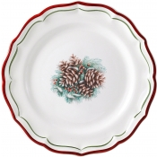 Filets Noel Dessert Plates - Assorted Set of 4