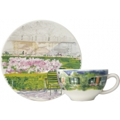 Paris Giverny Set of 2 Breakfast Cups and Saucer