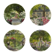 Paris Giverny Set of 4 Canape Plates Assorted