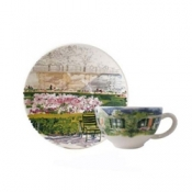 Paris Giverny Breakfast Cup and Saucer
