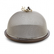 Michael Aram Olive Branch Mesh Dome / Wood Base