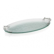 Ocean Coral Glass Platter - Large