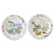 Provence Canape Plates Set / 4 - Assorted